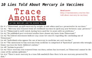Mercury Trace Amounts 10 lies
